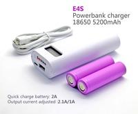 usb charging Soshine E4S 18650 LCD USB Mobile Charger 18650 Powerbanks DIY 18650 Battery Power Charge Box white color