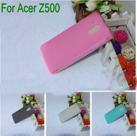 2014  Anti Slip Flexible TPU Protective soft TPU  Silicon Case cover  For   Acer Liquid Z500  phone 2PCS/LOT