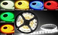 5m 3528 SMD 60led/m Led Strip Light Non Waterproof Flexible DC 12V Lamp WHITE/RED/GREEN/BLUE/YELLOW/RGB/WARM WHITE