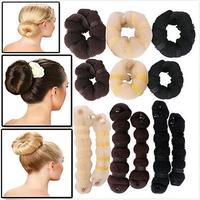 2PCS/lot Elegant Magic Sponge Hair Styling Bun Maker Twist Curler Tool