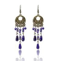 Wholesale Brincos Bohemain Jewelry Chandelier Earrings Imitation Gemstone New 2014 Dangle Earrings for Women
