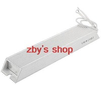 150W 20 ohm Silver Tone Aluminum Housed Wire Wound Resistor