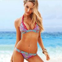 2015 Victoria's Womenwide Sexy Push up Bright Diving Suit Material-neoprene  Bikini Swimsuit Swimwear colorful bikinis 28
