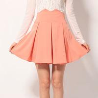 2015 Spring Summer Women Elegant Midi Skirt High Waist Fashion Skirts Womens Slim Pleated Bust Skirt Ladies mini skirts