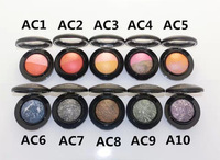 Professional Cheap Brand 2015 New Arrival 10 differ Colors Mineral eyeshadow / eye shadow 2g!( 12 pcs/lots)12pcs FREE SHIPPING