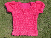 2015 summer short t shirts baby girls t-shirts cotton cute tees new fashion kids childrens clothes KP-RST009