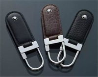 Free shipping creative new high-end business key chain leather man car key chain quality goods