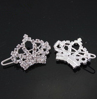 wholesale~fashion hairwear crystal crown dog jewelry pet hairclip
