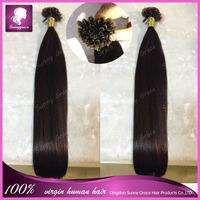 "18-32"" Pre-Bonded hair U Tip Keratin Glun Nail Tip Hair Extension Silky Straight hair products 100s"