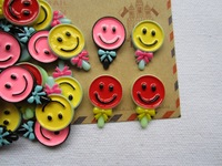 Free Shipping! Min. order is $10 (mix order), Mix Resin Kawaii Smile Candy, FlatBack Cabochon for Hair Bow Center, DIY (17mm)