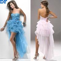 Elegant Evening Dress Vestido Longo 2015 New Women Organza Tiered Dress Plus Size Backless Long Wedding Party Dresses For Bride