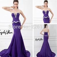 2014 Sale Rushed Beading Vestido Longo Vestido Free Shipping Satin Fabric Mermaid Fishtail Evening Dress In Turkey_bridalk