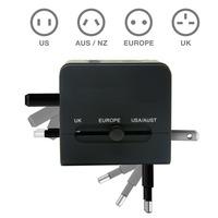 50PCS/LOT Universal International Travel Adapter Adaptor Convertor charger with Dual (2) USB Port Plug AC