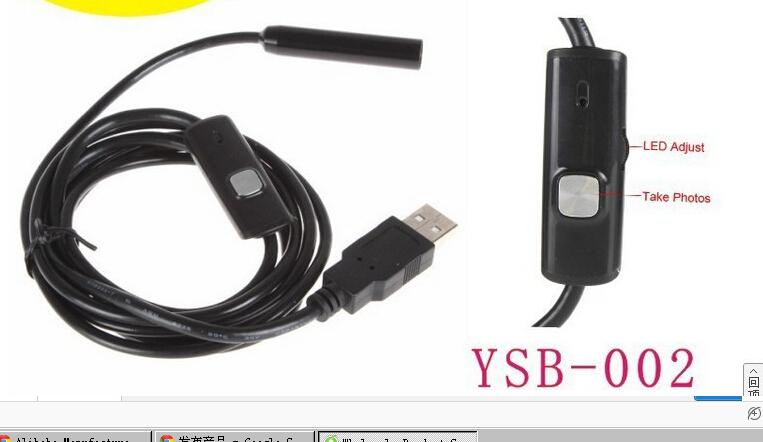 2 m -10mm-4 LED lights waterproof USB drive free car Endoscopy Endoscopy Industrial Endoscopy free shipping(China (Mainland))