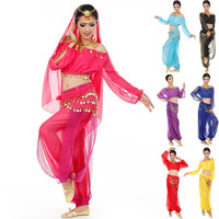 Indian Dress 3 pieces Top+Skirt+Waistband vestidos Belly Dance Costume saia longa Vestido Indian Dresses Danza Del Vientre DS065