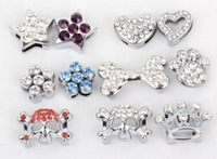 wholesale~Rhinestone slider for dog collar 10MM , 10pcs/per color /style