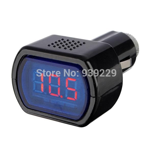 High Quality DC12V 24V Car Digital LED Engine Battery Voltage Electric Volt Meter Monitor Indicator Tester Voltmeter Wholesale(China (Mainland))