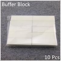 Hot Sale 10Pcs White Nail Art Buffer File Block Pedicure Manicure Buffing Sanding Polish + Free Shipping (NR-WS76)