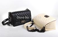 Retail Hot sale fashion lady hand bag Women casual chain Bags Solid PU Leather Handbag All-match Handbags Street shoulder Bags