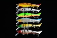 new 20pcs Jointed minnow Fishing Lures 12CM 13.5G 6# hooks fishing tackle fish bait hard plastic artificial lure free shipping