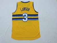 Free Shipping,2014 - 2015  Denver basketball jersey #3 Lawson basketball jersey,Sewing name and number