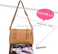Retail Hot sale fashion lady handbag Women casual satchels shoulder Bags Solid Handbags All-match Handbags Street Messenger Bags