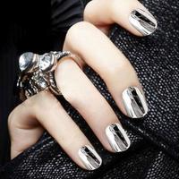 3x 16 Pcs Punk Rock Styles Metal colour gold or silver nails art stickers DIY decorations foils wraps a2 wholesale nail tools