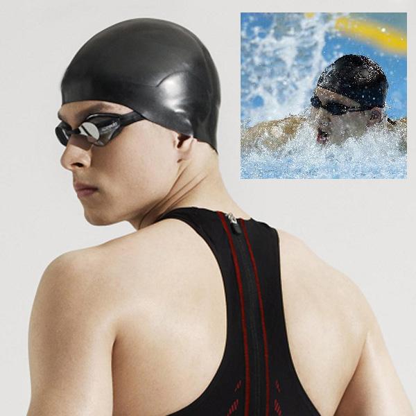 3 Colors Men Women Adults Swimming Caps Waterproof Sports Siwm Pool Swimming Protect Ears Latex Cap Hat Free size(China (Mainland))