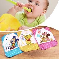 Cute lovely Waterproof Cartoon Baby kids Children Long Sleeve Bib Apron for baby self feeding Free Shipping
