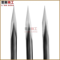 Milling cutter 3.175mm 30 degree 0.1mm V shape carbide Engraving Tools Milling Cutters mill for cnc part 5pcs/lot Free Shipping