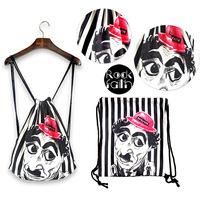 Hot ! New Fashion Women Printing Backpack Floral Printed Canvas Vintage Original Animal Woman Bags Travel Duffel Bag