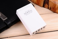 Free Shipping Multi USB Charger 5 USB Slots 5V8A Fast Recharge Smart Currency Distribution Safe Protection US/EU/BR Plug 5-P002