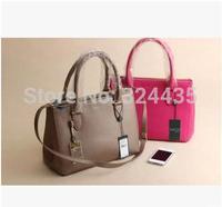 RO094 New2015 fashion double zippers Genuine Leather hasp handbag shouder bag wholesale drop shipping free shipping
