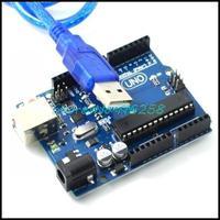 Free Shipping HK Post  UNO R3 Board  MEGA328P ATMEGA16U2 + USB Cable