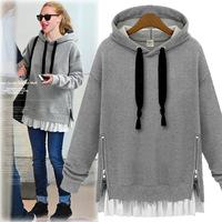 Hoodie Women Plus Size Hooded Long Hoodies For Autumn Winter Woman Long Sleeved Sweatshirts 2015 New Sweat shirt