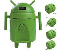 50pcs/lot Universal International Travel AC charger Adapter Adaptor Convertor with Dual (2) USB Port Plug