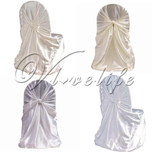 New Universal Satin Chair Cover Wedding Party Banquet Event Xmas Decorations Supply(China (Mainland))