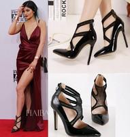 New Fashion Women Pumps Sexy Pointed Toe Platform Thin Heels Slingbacks Pump Sandals Party Dress Women Shoes 2015 WP0916