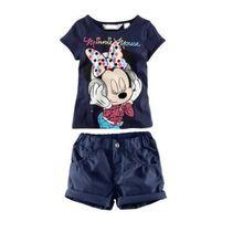 2015 Girls clothing set Kids apparels Clothing sets Cartoon kids Clothing Sets Girls Cotton Suit