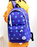 7 Colors New 2015 women fashion classic stars canvas backpack student school school bag outdoor travel shoulder bag mochila 756e