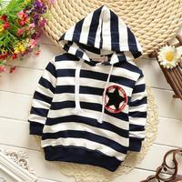 4pc/lot kids hoodies stripe 2015 spring baby pullover sports children jacket coat boys 728