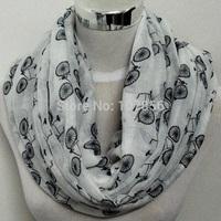 Free shipping  Fashion bicycle print  infinity scarf