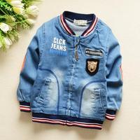 4pc/lot baby boys jackets denim 2015 spring kids coats jeans children clothing panya 599