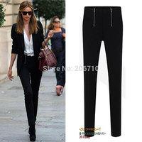 Hot Sale 2015 New 5 Color Hip Hop Women Pant Double Zipper Low Waist Women Trousers Female Pantalones Elasticity Plus Size Pants