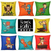 Superman cartoon printed multicolor Ikea pillow comfortable sofa cushion cotton pillow cushions office Pashui