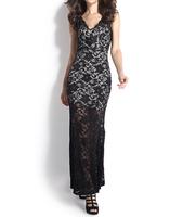 Free shipping 2015 summer Dress Fashion Lace Deep V Bodycon Mermaid Evening Dress Long Backless Party Dress Vestido Longo blac k