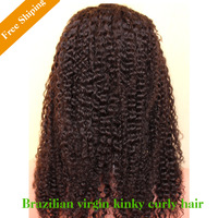 "Rosa Hair Indian Virgin Kinky Curly Human Hair Glueless Full Lace & Lace Front Wig For Black Women 8""-24'' in stock 120% density"