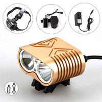 Free shipping New 5000Lumen 2x CREE XM-L2 LED Bicycle Bike Light lamp Headlight Headlamp Head Front light& headband