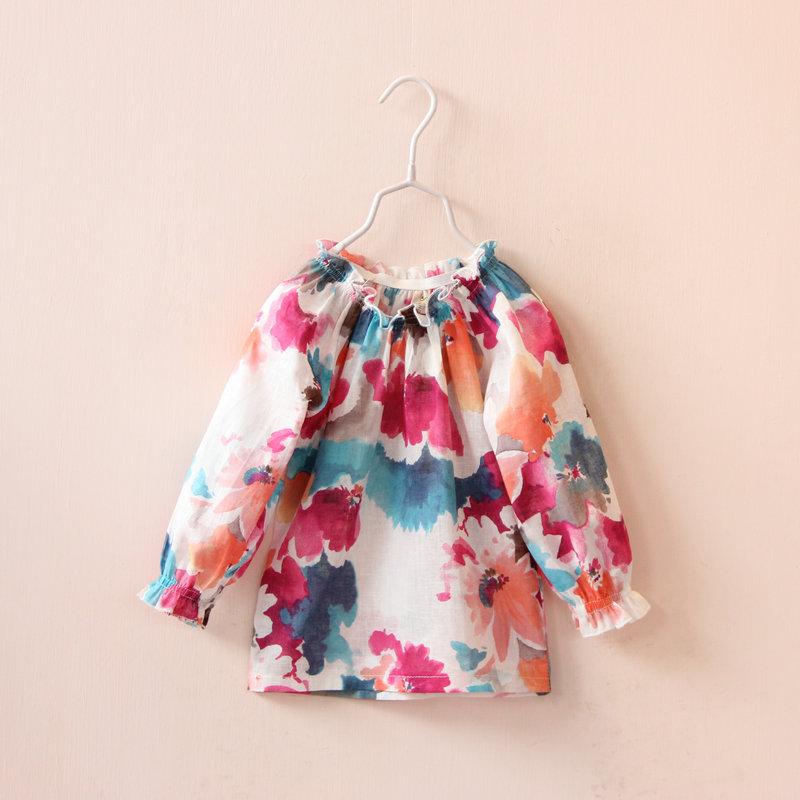 Блузка для девочек Print 2015 boutqiue flower
