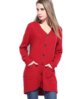 Free Shipping 2015 Spring Women Maxi Size Sweater Cardigan,Solid Color Medium Long knitted sweater  XL 2XL 3XL 4XL 5XL